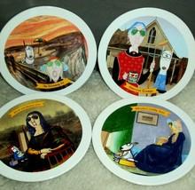 Hallmark Maxine Dessert Plates Art Masterpieces Parody The Scream Mona L... - $29.69
