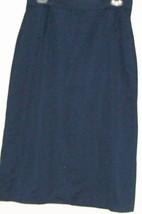 Women's Blue Fitted Waist Front Split Skirt Size 10 - $10.00