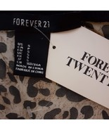 Forever 21 Top Black & Animal Print Sheer - $15.00