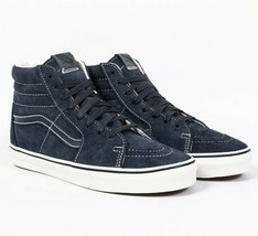 Vans SK8 Hi Hairy Suede Sky Captain Navy Mens Classic Skate Shoes - £46.15 GBP
