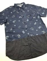 Men's Levi's Denim Blue | Grey Plaid S/S Button Down Shirt - $69.00