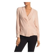 Rag and Bone Dusty Rose Silk Shields Long Sleeve Blouse Top L NWT $395 - $162.86