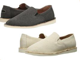 Ralph Lauren  Cotton Blend Bardene Burlap Slip-On Sneaker Beige & Dark Shade - $34.72