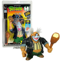 Year 1994 McFarlane Toys Spawn Series 5 Inch Tall Figure - CLOWN with Comic Book - $29.99