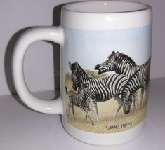 Coffee Mug Cup Otagiri Vintage Loraine Kress Zebra Herd Stanley Papel Japan - $9.90