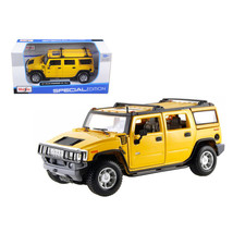 2003 Hummer H2 SUV Yellow 1/27 Diecast Model Car by Maisto 31231y - $27.99
