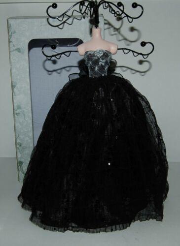 Jewelry Holder black lace dress lady NIB 051786910 holds rings bracelets earring