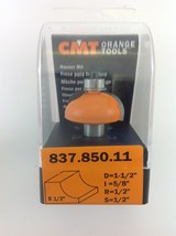 "CMT 837.850.11 Cove Router Bit, 1/2"" Shank, 1/2"" Radius,  Made in Italy - $27.00"