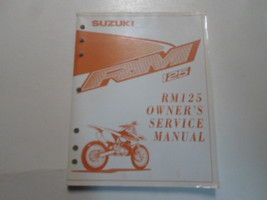 2000 Suzuki RM125 Owners Service Manual Minor Wear Factory Oem Book X - $69.25