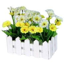 George Jimmy Artificial Flowers Arrangement Room Components Wood Fence Floral De - $14.62