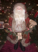 """19"""" Santa Claus Figurine Statue Table Decor Old World Rustic Country New... - $28.70"""