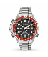 New Citizen Eco-Drive Promaster Aqualand Stainless Steel Divers Watch BN... - $366.28