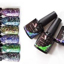 Nail Gel Polish Lacquer Uv Led Glitter Varnish Diamond Multi Soak Off - $4.69+