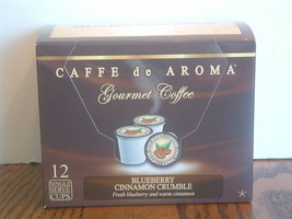 Caffe de Aroma Blueberry Cinnamon flavored 12 Single Serve K Cups OK for... - $10.45