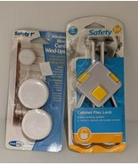 Safety 1st Cabinet Flex Lock and Window Blinds Cord Wind-ups Combo Child... - $14.69