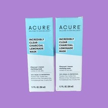 2 X Acure - Incredibly Clear Charcoal Lemonade Facial Scrub - 4 Oz EA. S... - $18.31