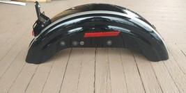 Harley Davidson Evo Softail Touring Rear Fender Factory Original Black With Logo - $44.55