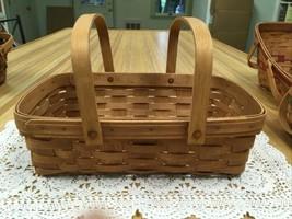 Large Longaberger Gathering Basket 1988 Double Swing Handles  - $27.99
