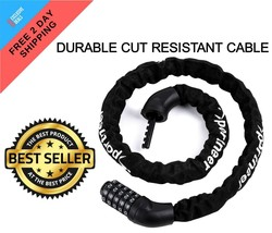 Bicycle Chain 5-Digit Resettable Combination Anti-theft Bike Lock DURABL... - $17.78