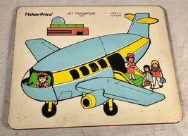 VINTAGE FISHER PRICE LITTLE PEOPLE JET TRANSPORT AIRPLANE PRESCHOOL PUZZLE - $26.72
