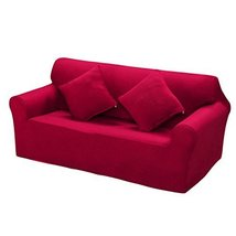 George Jimmy Modern Sofa Cover Couch Throws Dustproof Cover Double Sofa Red Slip - $53.66