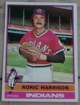 Roric Harrison,  Indians,  1976  #547 Topps Baseball Card,  GOOD CONDITION - $0.99