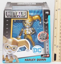 "Harley Quinn 4"" Diecast - Gold W/ Silver Toy Figure Metal Figurine 2016 New - $9.88"