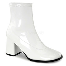 "GOGO150/W Sexy 3"" Heel Gogo Dancer White Ankle Boots Halloween Costume S... - $39.85"