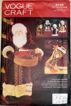 Father Time Card Holder Decorations Vogue Craft Sewing Pattern 8735 Stoc... - $11.00