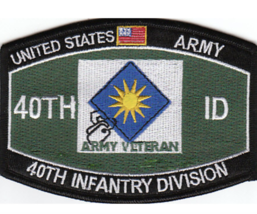 "4.375"" Army Mos 40TH Infantry Division Embroidered Patch - $23.74"