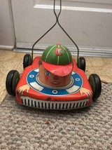 Vintage  Ohio Art Co Tin Toy Lawn Mower Chipper the Clipper Litho 1950s HTF - $93.84