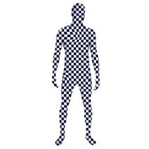 Black White Plaid Lycra Spandex Bodysuit Zentai Cosplay Costume - $39.64