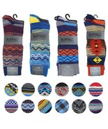 Buffalo David Bitton Men's Multipack Geo Tribal Dress Socks in Assorted ... - $13.98