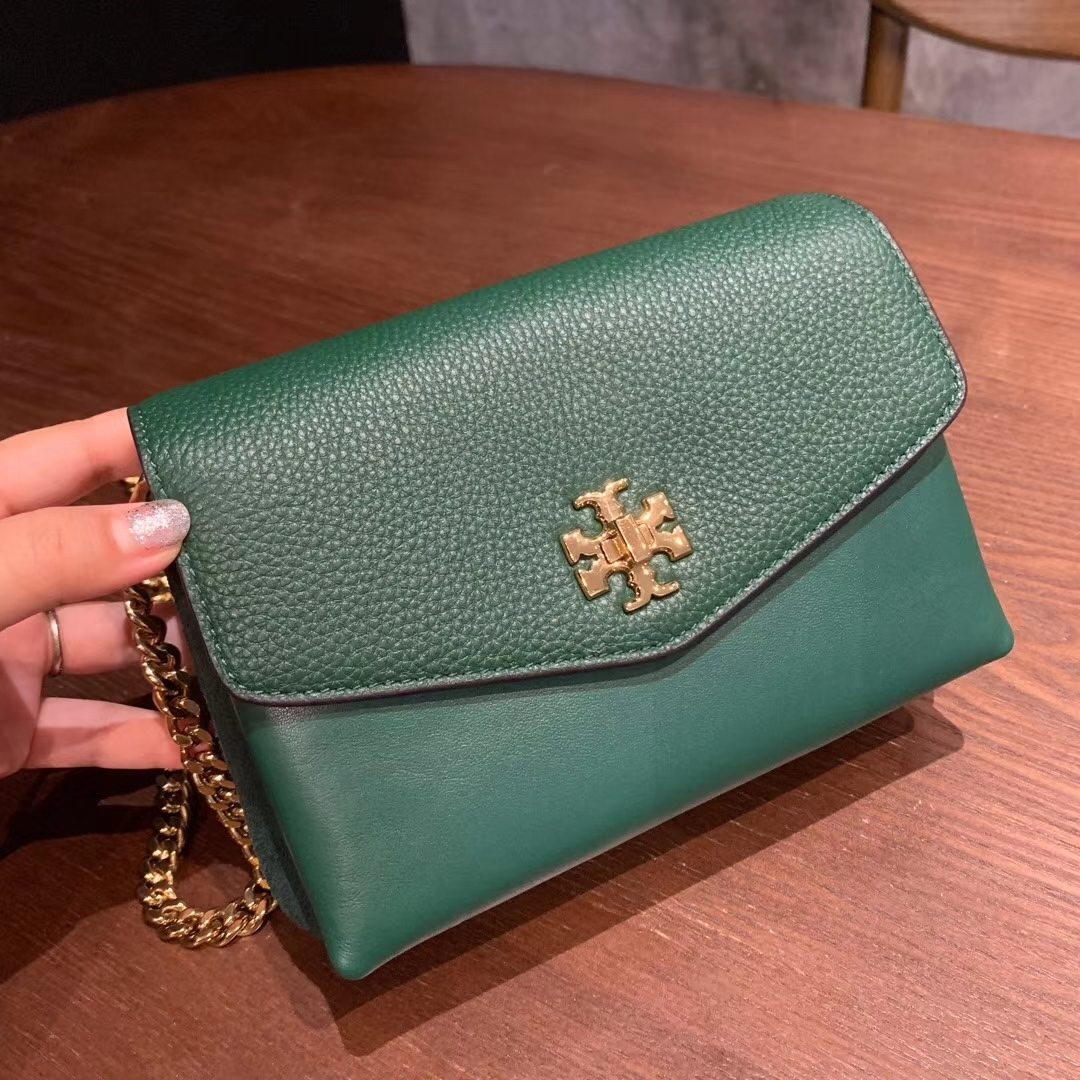 Authentic Tory Burch KIRA MIXED-MATERIALS MINI BAG green