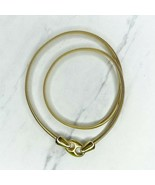 """Gold Tone Skinny Coil Stretch Hook Buckle Belt Size XS 24""""-30"""" - $17.44"""