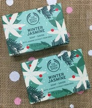 2 Pack ~The Body Shop Special Limited Edition Winter Jasmine Vegan Soap 75g NEW - $19.70