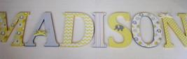 Wood Letters-Nursery Decor- Yellow & Grey Elephant theme- Price Per Lett... - $12.50