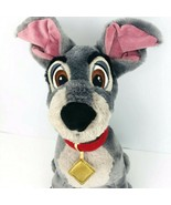 "Disney Store  Lady and the Tramp Plush 16"" Dog Stuffed Animal Toy Gray  - $29.69"