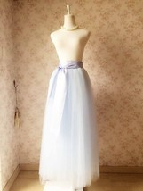 LIGHT BLUE Maxi tulle skirt Plus Size Wedding Petticoat Skirt 3 layer NWT