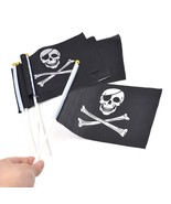 5 Pieces/Lot Skull and Cross Crossbones Jolly Roger Pirates Hand Flag 21... - $13.99
