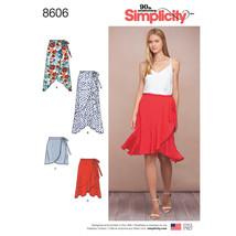 Simplicity Misses Wrap Skirt-6-8-10-12-14 - $15.55