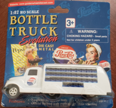 PEPSI COLA 1:87 Ho Scale 1937 Bottle Truck Evolution Golden Wheel Die Cast  - $10.95