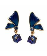 Fellala Dangle Earrings for Women Gold Plated Enamel Butterfly Drop Earr... - $37.08