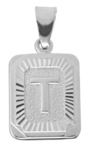 NICE Sterling Silver 925 Letter T Initial letter for name word Jewelry Border ch - $22.03