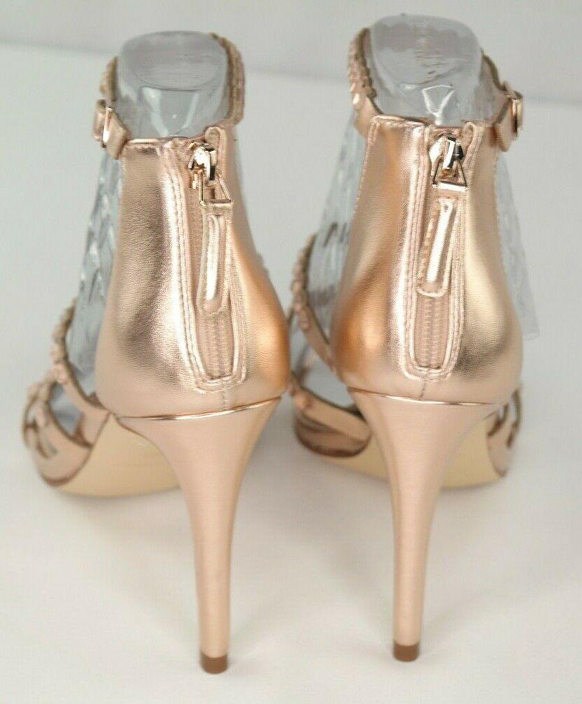 Nine West Vandison Dress Sandals Sz 8 Womens Pink Strappy High Heel Shoes