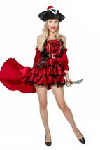 Female Adult Pirate Halloween Costume Cosplay Outfit image 3