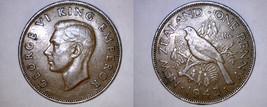 1943 New Zealand 1 Penny World Coin - Tui Bird - $14.99