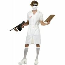 ADULT MENS PSYCHO TWISTED NURSE JOKER DARK KNIGHT MOVIE HALLOWEEN COSTUM... - £35.35 GBP