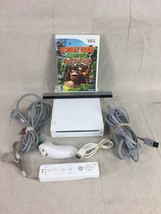 Wii, Includes 1 Controller 1 Nunchuk, Sensor Bar and Donkey Kong Country - F7 - $42.04
