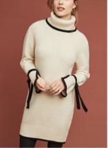 Anthropologie Bow-Tied Turtleneck Dress by J.O.A Sz XS RUNS LARGE - NWT - $79.99